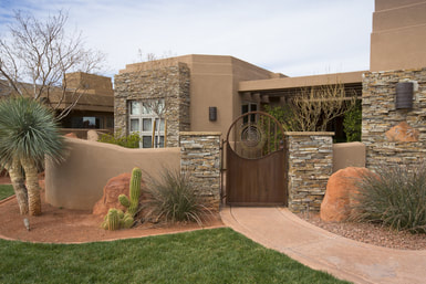 new home in St George Utah after stucco installation on exterior